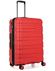 Antler Juno 2 4W Medium Roller Suitcase Hardside, Red, 68cm