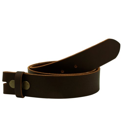 """DISTRESSED BROWN Leather Snap on Belt Strap MD 32""""-34"""""""