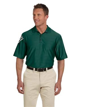 adidas Golf Mens Climacool Mesh Polo (A133) -Forest/WHI -3XL