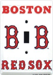 Boston Red Sox Light Switch Cover (single)