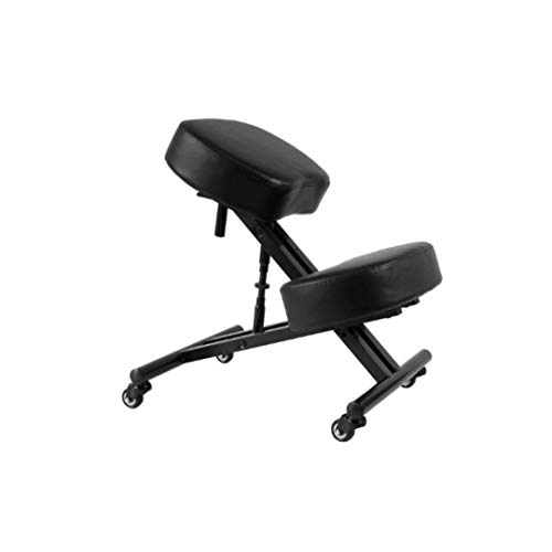 Sleekform Alpharetta Adjustable Kneeling Chair | Ergonomic Posture Correcting Knee Stool for Bad Back Support, Neck Pain Relief, Computer Desk | Orthopedic Comfortable Faux Leather Cushions