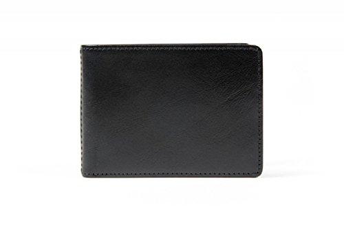 Bosca Bi Fold Wallet - Bosca Men's Old Leather Small Bifold Wallet (Black)