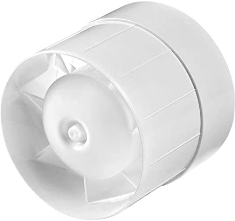 MKK - Ventilador de Aire para canalizaciones y tuberías, aerogenerador silencioso (diámetro 125 mm): Amazon.es: Hogar