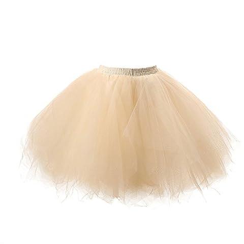 Honeystore Women's Short Vintage Ballet Bubble Puffy