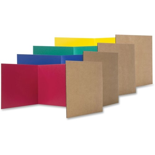 Corrugated Study Carrel - Flipside Products Study Carrel Color Corrugated, 12