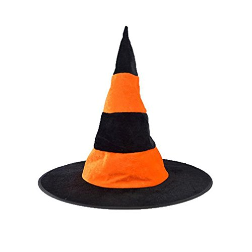 Fabal Adult Womens Black Witch Hat For Halloween Costume Accessory Cap (Orange) (Halloween Costume Tumblr Girl)