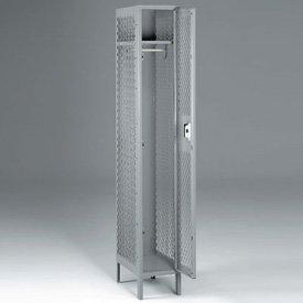 Steel Single-Tier, One-Wide Lockers - 78''h x 12''w, Sand by Emedco