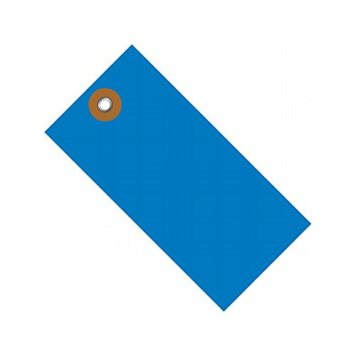 """Box Packaging Tyvek Colored Shipping Tag #8, Plain, A, B, C, D, 6.25"""" x 3.12"""" - Case of 100"""