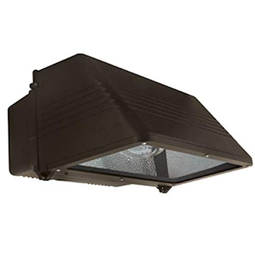 Hubbell Outdoor Lighting WGL400S 400-watt High Pressure Sodium Wallpack with Lamp, Full Cut-Off and Quad-Tap Ballast, Bronze