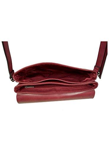 Esprit Aimee Shoulderbag Damen Handtasche Schulter Umhänge Taschen in Lederoptik 018EA1O026-E625 Rot