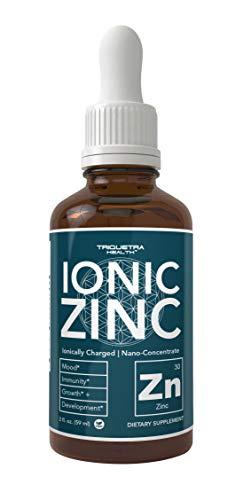 Zinc Supplement - 10x Maximum Absorption (240 Servings) | Ionically Charged Zinc, Nano-Concentrate & Essential Co-Factors - Liquid Zinc Sulfate Form Plus Ionic Zinc Copper Co-Factor (Best Zinc Carnosine Supplement)
