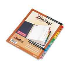(3 Pack Value Bundle) CRD61518 Traditional OneStep Index System, 15-Tab, 1-15, Letter, Assorted, - Index System 15 Tab