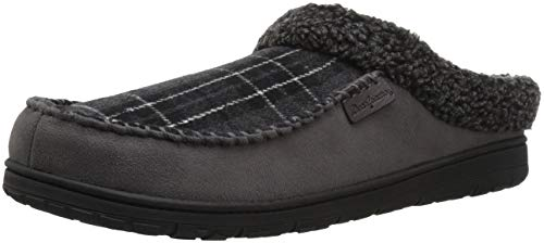 Slipper Moc Men's Cuff Toe Berber Pavement Microsuede Clog Dearfoams 0TEF6qdq