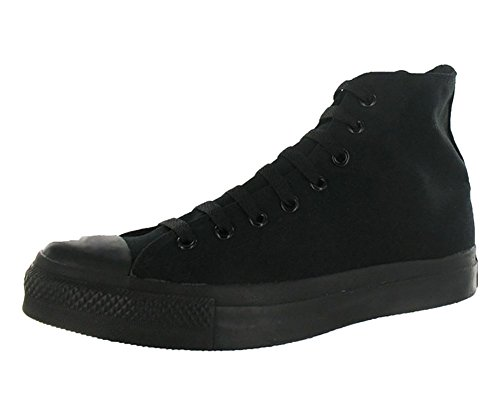Converse Mens Chuck Taylor All Star High Top, 9.5 B(M) US Women / 7.5 D(M) US Men, Black Monochrome -