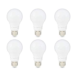 AmazonBasics 40W Equivalent, Daylight, Dimmable, 10,000 Hour Lifetime, A19 LED Light Bulb | 6-Pack