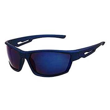 Ma & Camping & Wandern Herren Anti-Fog Kunststoff Wrap sunglass-style Brillen Blau blau jfs6nr