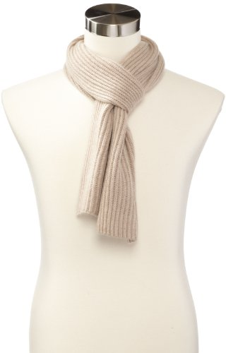 Cashmere Scarf Ribbed (Williams Cashmere Men's Ribbed Scarf, Camel, One Size)