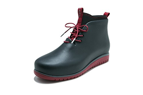Ccilu Men's Boots, Panto Paolo Rain Boots; Waterproof Ankle-High Rubber Booties w/Flexible and Supportive Sole, Lace-up Lined Short Boots for Winter and Rainy Weather, Lightweight and Trendy (Ultimate Short Boots)