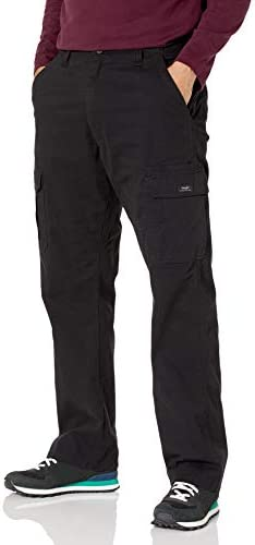310bE%2BrYZvL. AC Wrangler Authentics Men's Stretch Cargo Pant    Wrangler Authentics Men's Classic Cargo Stretch Twill Pant. This classic cargo pant is constructed with durable materials built for long-lasting comfort. This cargo pant sits at the natural waist and features a relaxed fit through seat and thigh. Stretch fabric moves with your body, whether you're working in the yard or busy with the family on the weekend. (6) Pockets. (2) cargo side pockets (2) back patch pockets, and (2) slash pockets. ImportedZipper closureMachine WashRELAXED FIT. These cargo pants sit at the natural waist. Designed with a relaxed fit through the seat and thigh, these cargos will keep you comfortable during any task.STRETCH TWILL. A Wrangler classic, these straight-leg men's pants have stretch and flexibility for comfort in movement. A Hollywood waistband offers extra support with your favorite belt.CLASSIC CARGO PANT. This classic cargo pant is sure to be comfortable and functional for everyday wear. From the outdoors to work, this pant is built for versatility with a timeless silhouette and extra storage.