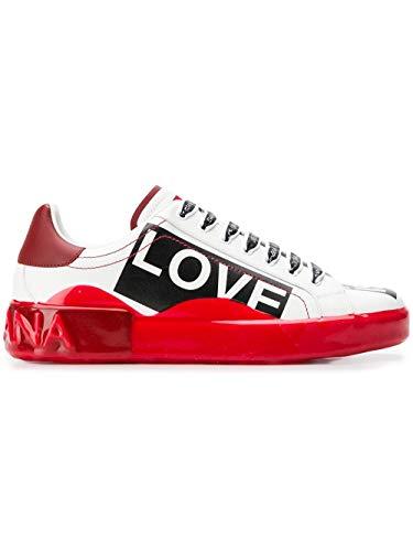 Dolce e Gabbana Men's Cs1587ak239hwf57 White Leather Sneakers