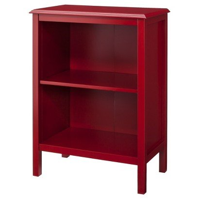 Windham 2-Shelf Bookcase RED For Sale