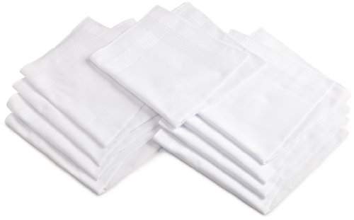Dockers Men's 9 piece hankie set,White,One Size