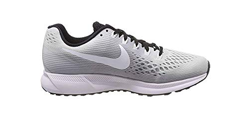 Nike Womens Air Zoom Pegasus 34 Running Shoe (5 M US, Pure Platinum/White-Black) by Nike (Image #1)