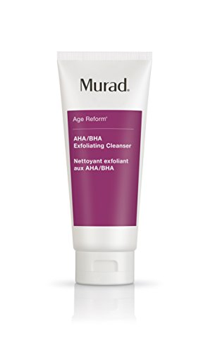 Murad Age Reform AHA/BHA Exfoliating Cleanser - (6.75 fl oz), An Intensive Face Cleanser with a Trio of Exfoliating Acids and Jojoba Skin-Polishing Beads to Reveal a Younger-Looking Complexion Murad Glycolic Acid