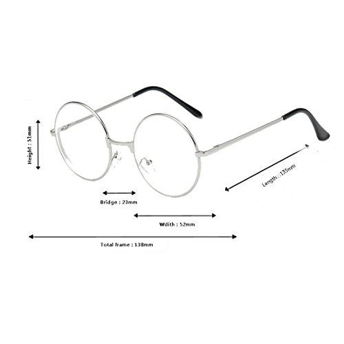 3 Marco 4 0 0 1 retro redondo marco gafas 0 5 Plata gafas 5 2 de 3 5 estructura metálica 1 0 Aiweijia 2 TxdwA1qT