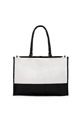 weddingstar–Borsa da spiaggia unisex adulti Multicolore nero/bianco Taglia unica