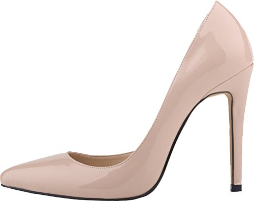 Simple Toe High Easy 302 Nude D Fresh Fair Brilliant Breathable Elegant Feast Wedding 18QP Slip CFP Heel Ponity Handmade Office Charm Shoes Pump Party YSE Crafted Womens orsay On Spike vx6WAO