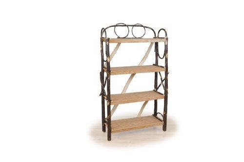 Rustic Hickory Tall Bookshelf, 42