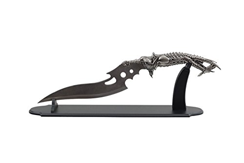 Alien Stand - Wuu Jau H-561 Alien Fantasy Knife with Wooden Stand, 22.5