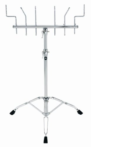 - Meinl Percussion TMPS Double Braced Tripod Percussion Stand with 6 Rod Mounts, Chrome