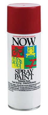 NOW 21-217 Fast Dry Lead-Free Spray Enamel, 9 oz. Can, Wagon Red
