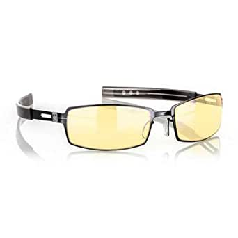 Gunnar Optiks PPK-00101 PPK Full Rim Advanced Video Gaming Glasses with Headset Compatibility and Amber Lens Tint, Gloss Onyx Frame Finish