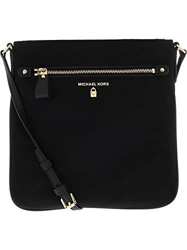 778f205e3c Michael Kors Women s Large Kelsey Nylon Crossbody Cross Body Bag - Black