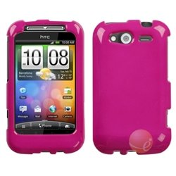 MYBAT Solid Hot Pink Phone Protector Faceplate Cover Compatible With HTC Wildfire S, Wildfire S