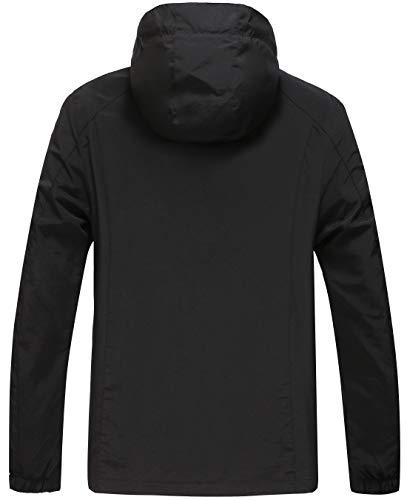 GLESTORE Veste Hommes Blouson Léger Militaire Veste de Randonnée Imperméable Veste d'Extérieur Jogging Sport Manteau à…