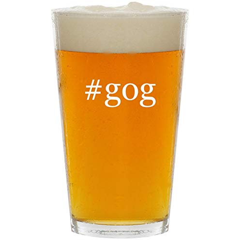 (#gog - Glass Hashtag 16oz Beer Pint)