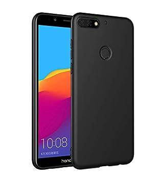 Olliwon Funda Huawei Y7 2018, Ultra Slim Silicona TPU Carcasa Anti-Arañazos y Antideslizante 360 Cover Case para Huawei Y7 2018 Nergo