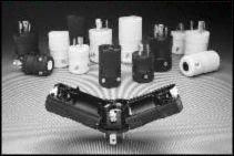 Hubbell HBL2321VBK Locking Valise Plug, 20 amp, 250V, L6-20P, Black