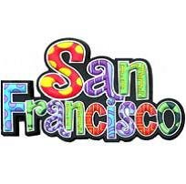 San Francisco Colorful Spell Out Rubber Magnet