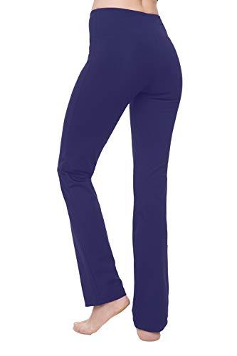 NIRLON Plus Size Yoga Pants for Women High Waisted Tummy Control Workout Leggings Straight Leg (2XL, Ink 30