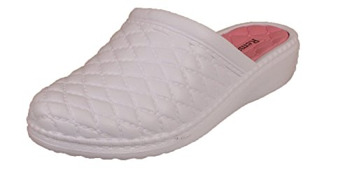 Scarpe Spiaggia Slip Infermieristica Mules Sandali Bianco On Womens Clogs Da Summer Rosa Ladies 4Fwzpv