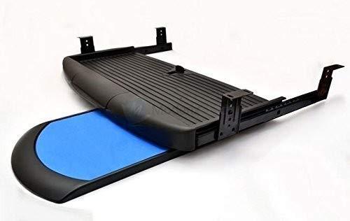 GTV - Soporte Completo de cajon Deslizante para Teclado y raton bajo el Escritorio, Color Negro