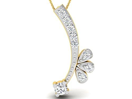 Or Jaune 9 ct Pendentifs Diamant , 0.05 Ct Diamant, GH-SI, 0.28 grammes.