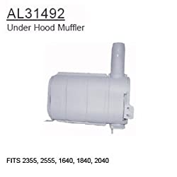 AL31492 John Deere Parts Under Hood Muffler 2355,