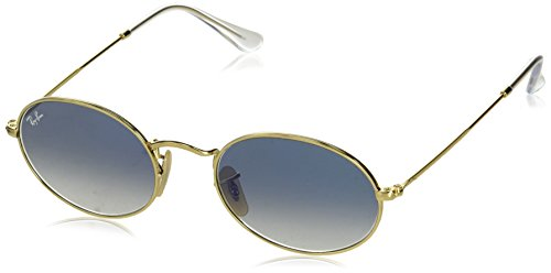 Ray-Ban Metal Unisex Oval Sunglasses, Arista, 53 mm