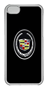 iPhone 5C Case, iPhone 5C Cases - Anti-Scratch Crystal Clear Back Bumper for iPhone 5C Cadillac Car Logo 3 Shock-Absorption Hard Case for iPhone 5C